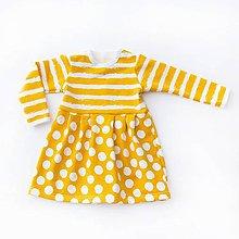 Detské oblečenie - BIO šaty - Dots and Stripes yellow - 7828624_