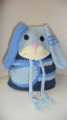 Detské tašky - Detský batoh - modrý zajko - 7829628_