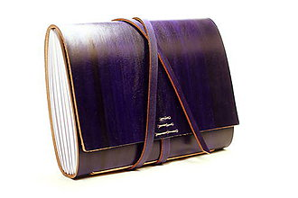 Papiernictvo - Kožený zápisník ANMIKAM A5 - 7831021_