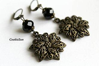 Náušnice - Filigránové kvety... - 7831261_