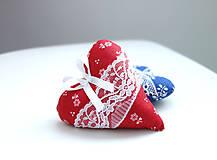 Darčeky pre svadobčanov - Srdiečka folk...červené - 7828610_