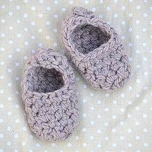 Topánočky - Minipapučky...staroružové - 7832214_
