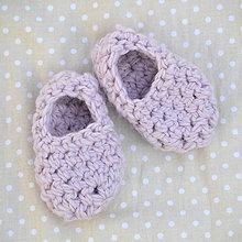 Topánočky - Minipapučky...púdrové - 7832231_