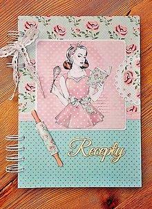Papiernictvo - romantický receptár  - na objednávku - 7829497_