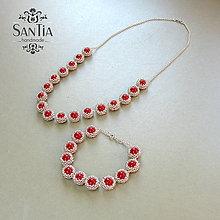 Sady šperkov - Náhrdelník a náramok: Swarovski perly a striebro AG 925 - 7832513_