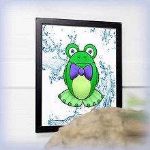 Obrázky - Žabiak s motýlikom - voda - 7830256_