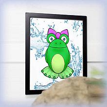 Obrázky - Žabka s mašličkou - voda - 7830527_