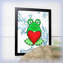 Obrázky - Žabiak so srdiečkom - voda - 7832284_
