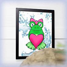 Obrázky - Zamilovaná žabka so srdiečkom - voda - 7832286_