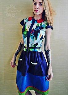 Šaty - Farebné šaty pre odvážnu žienku - 7836966_