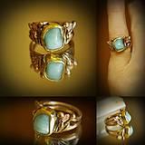 Prstene - larimar v bronze - 7835524_