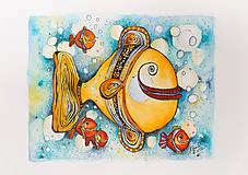 Kresby - Rybičky - päť - 7836007_