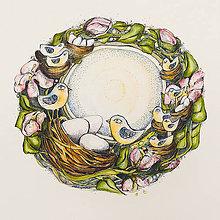 Kresby - jarne vtáča - 7836099_