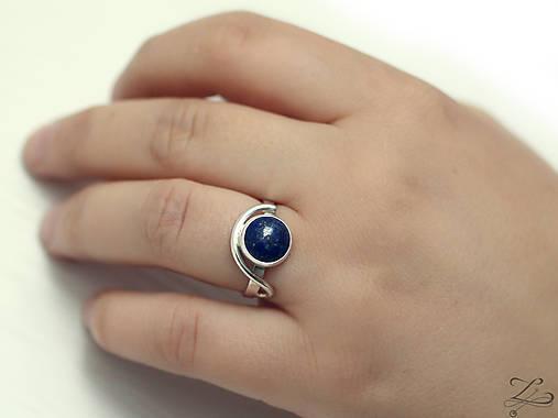 Strieborný prsteň s lapisom lazuli - LapiS