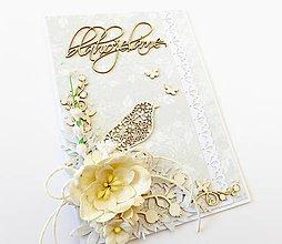 Papiernictvo - pohľadnica svadobná - 7833677_