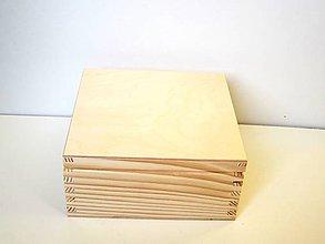 Polotovary - M17-  Drevená krabička 17x17 cm - 7836354_