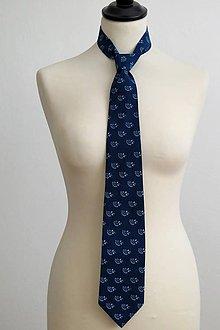 Doplnky - pánska kravata Modrotlač-ka - 7836509_