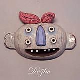 Dekorácie - Dežko Keramická maska - 7833426_