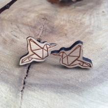 Náušnice - Vtáčik origami - 7835315_