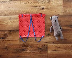 Detské tašky - Batôžtek mini-červenomodrý - 7836297_