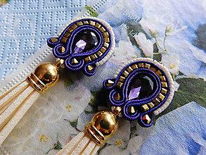 Náušnice - Violet - 7837425_
