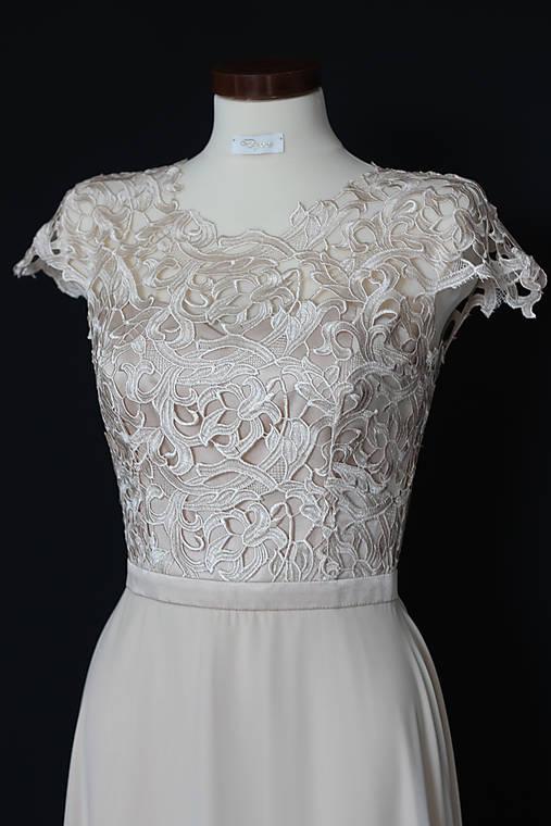 94660feb0525 Spoločenské šaty z hrubej krajky SKLADOM veľ. 38 - 40   Dyona ...