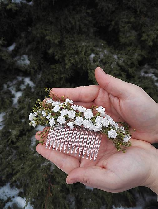 """Kvetinový hrebienok """"biely závoj"""""""