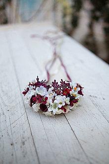 Ozdoby do vlasov - Kvetinová parta s krajkou a perličkami \