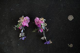 Náušnice - Originálne kvetinové náušnice \