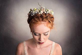 Ozdoby do vlasov - Kvetinový pastelový polvenček \