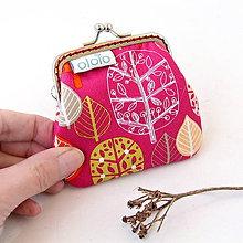 Peňaženky - Peňaženka mini Stromy - červená - 7834321_