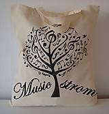 Nákupné tašky - Taška strom music - 7834937_