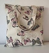Nákupné tašky - Taška motýľová - 7835055_