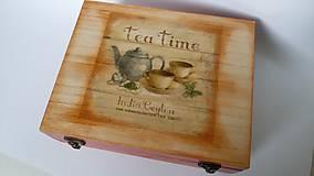 Krabičky - Čas na šálku čaju? - krabica na čaj 12P - 7835233_