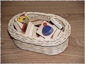 Košíky - Maličký oválny košíček - 7834231_