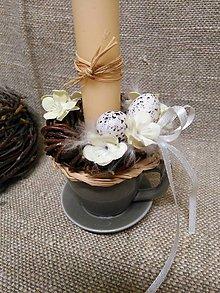 Svietidlá a sviečky - jarný svietnik - 7837379_