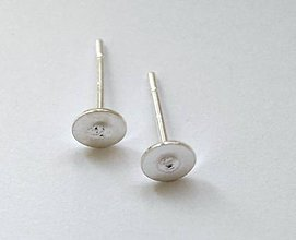 Komponenty - Puzety 5 mm,striebro Ag 925 - 1 pár - 7838576_