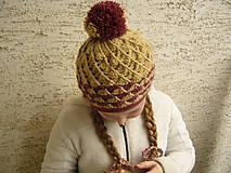 Detské čiapky - Háčkovaná čiapka LENKA - 7838868_