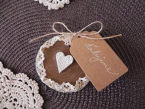 Darčeky pre svadobčanov - Svadobné srdiečka pre prírodnú dušu:-) - 7840977_