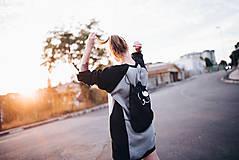 Mikiny - Dlhá unisex mikina Comfi čierno-sivá - 7841474_