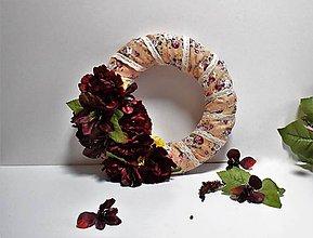 Dekorácie - Veniec na dvere Vintage kvety. - 7840205_