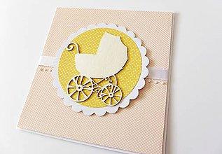 Papiernictvo - pohľadnica k narodeniu dieťatka - 7839000_