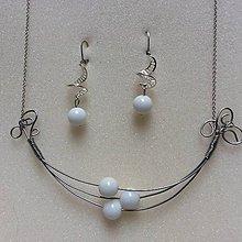 Sady šperkov - sada šperkov: s bielym koralom - 7839747_