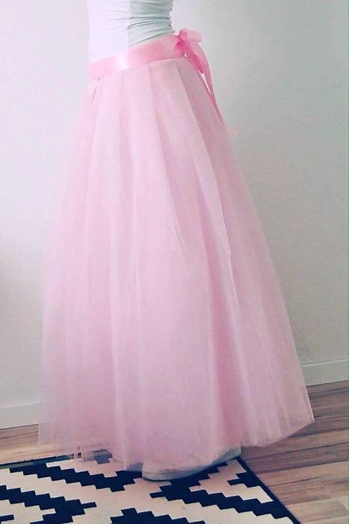 115106a4e6b5 Dlhá tylová sukňa ružová   TinyThea - SAShE.sk - Handmade Sukne