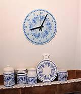 Hodiny - Hodiny modré kvety 2 - 7840649_