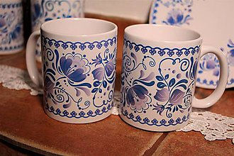 Nádoby - šálka modré kvety 2 - 7837947_