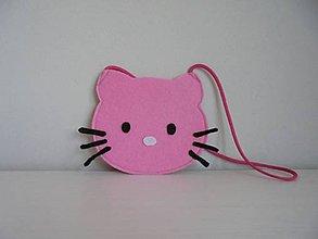 Kabelky - Filcová kabelka detská - svetlo ružová - 7842183_