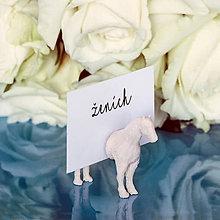 Darčeky pre svadobčanov - Svadobné magnetky - stojančeky na menovky 3 - 7841572_
