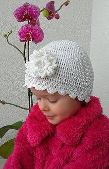 Detské čiapky - Háčkovaný klobúčik - 7837616_