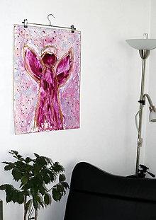 Obrazy - veľký anjel strážny- enkaustika - 7838655_